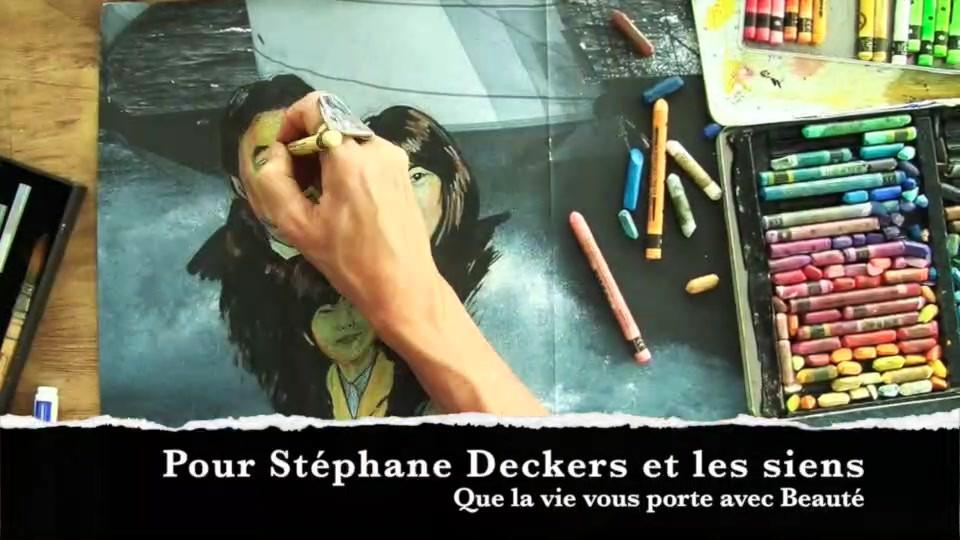 Portrait vidéo - Techniques mixtes sur journal