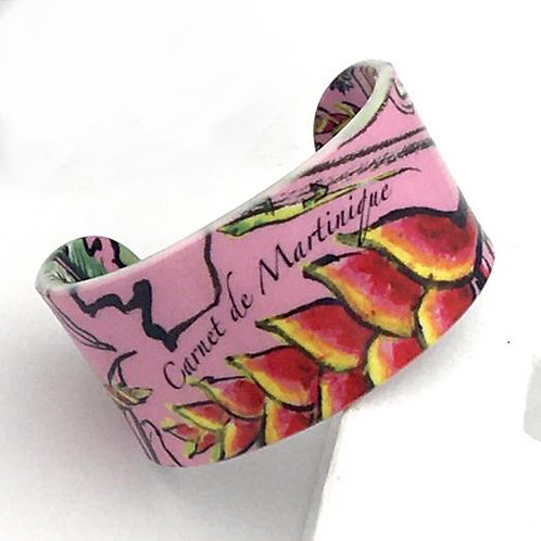 "Bracelet ""Carnet de Martinique - Rose"""