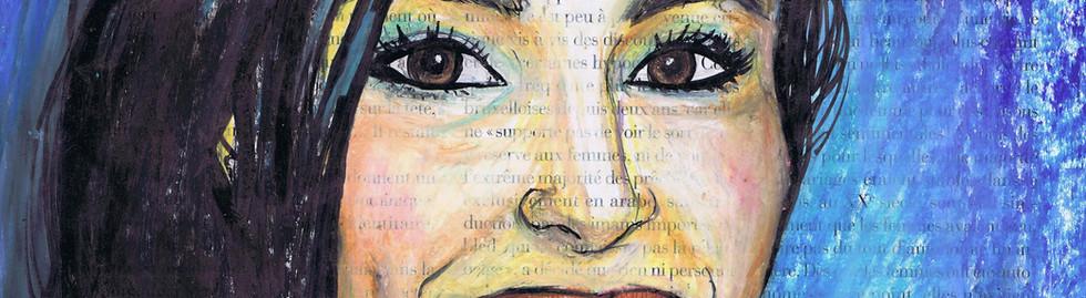 portrait femme couleurs
