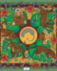 carré de soie Panthère