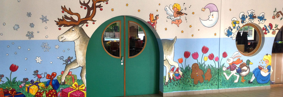 Ecole Europeenne bruxelles peinture murale