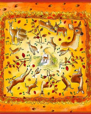 carré de soie biche oran