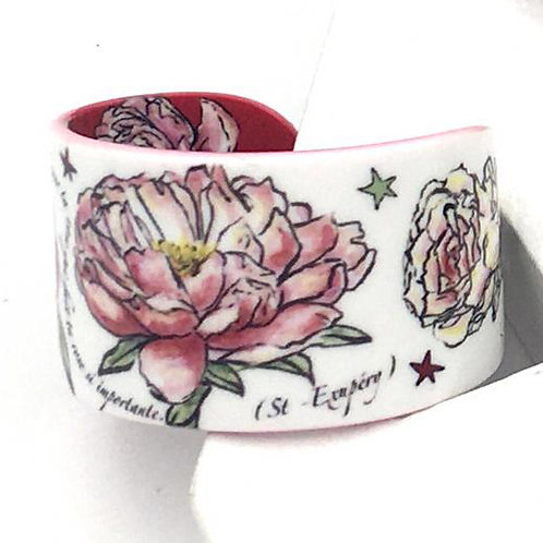 "Bracelet ""Les Roses - blanc"""