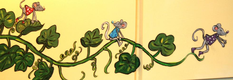 chambre d'enfant peinture murale
