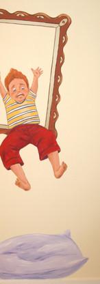 Peinture murale salle de jeux enfants