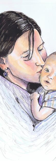 Portrait mère et bébé