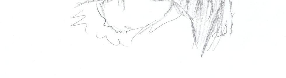 portrait fille crayon noir et blanc