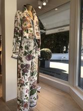 collaboration natan pyjama de soie fleurs