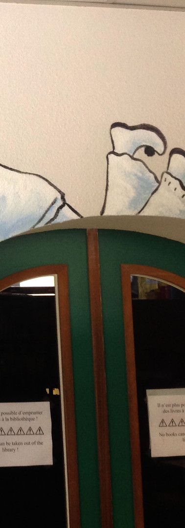 Ecole Européenne Woluwé-Saint-Lambert - Peinture murale - Personnages d'Europe