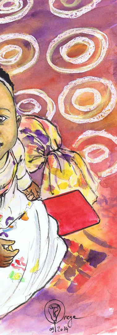 Portrait bébé africain - fille