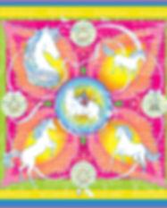 Carré de soie Licorne