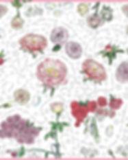 carré de soie Roses