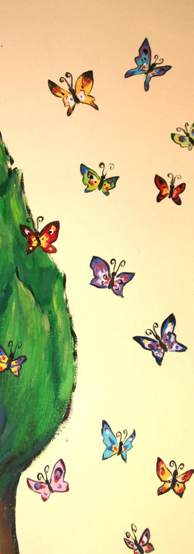 Salle de jeux Peinture murale Les 4 saisons - Printemps