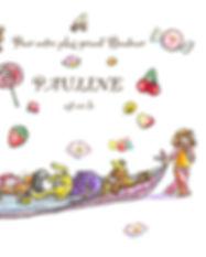 faire-part naissance Roseline d'Oreye bonbons petite fille ours peluches