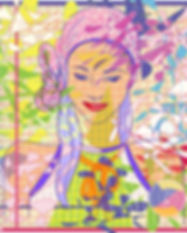 carré de soie femme mauve rose vert jaune