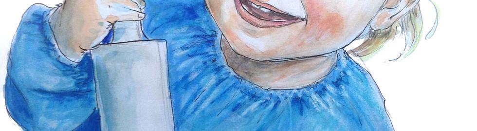 portrait bébé aquarelle couleurs
