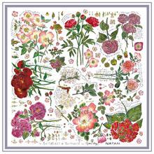 collaboration natan carre de soie fleurs