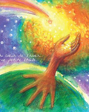 faire-part naissance Roseline d'Oreye arbre étoile univers magie automne terre