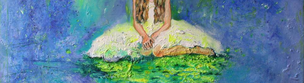 portrait fille peinture à l'huile couleurs