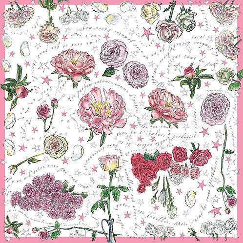 Carré de Soie - Les Roses