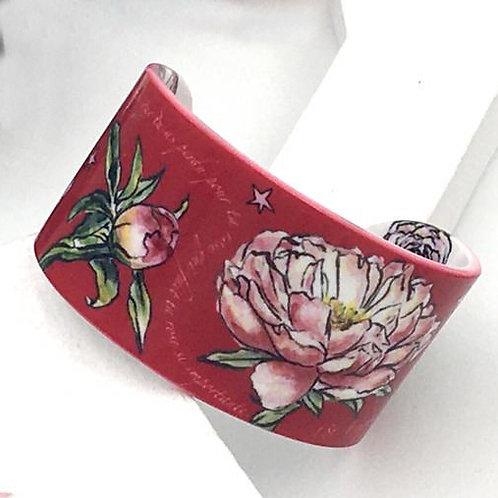 "Bracelet ""Les Roses - rouge"""