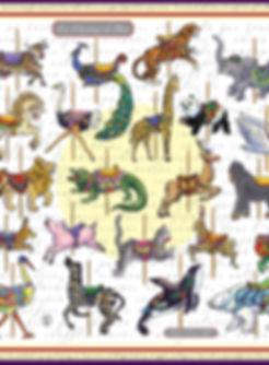 Roseline d'Oreye foulard caroussel les chevaux de bois Rainer Maria Rilke poème carré de soie