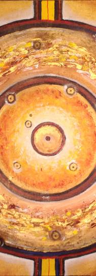 Mandala univers doré