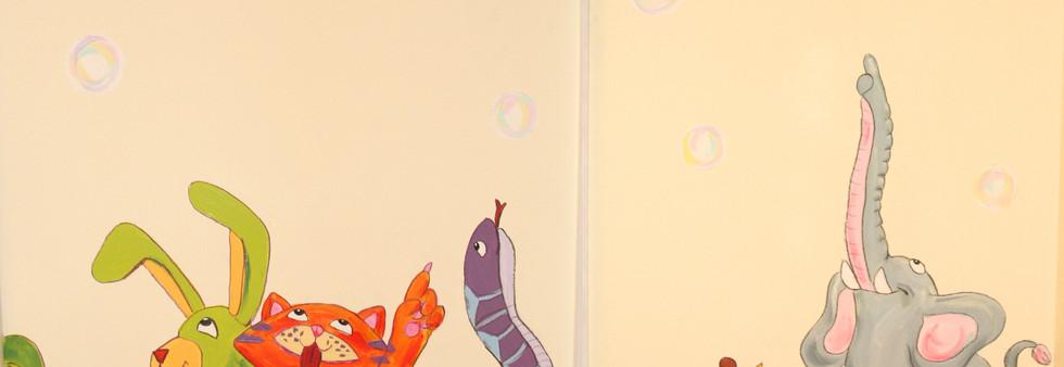 chambre d'enfant garderie peinture murale