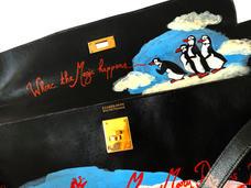 Personnalisation sac Hermès Kelly - Mary Poppins