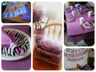 Purple and Black party decorations