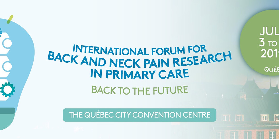 the XVIth International Forum on Back and Neck Pain Research in Primary Care