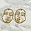 Thumbnail: Boucles d'oreilles Lice dorées