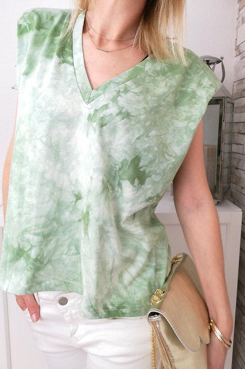 Tee-Shirt Tie & Dye Terence Vert