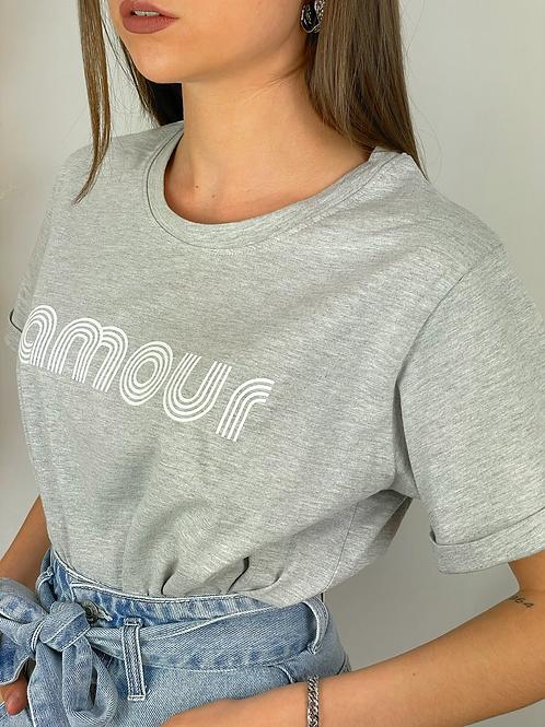 Tee-shirt Amour gris