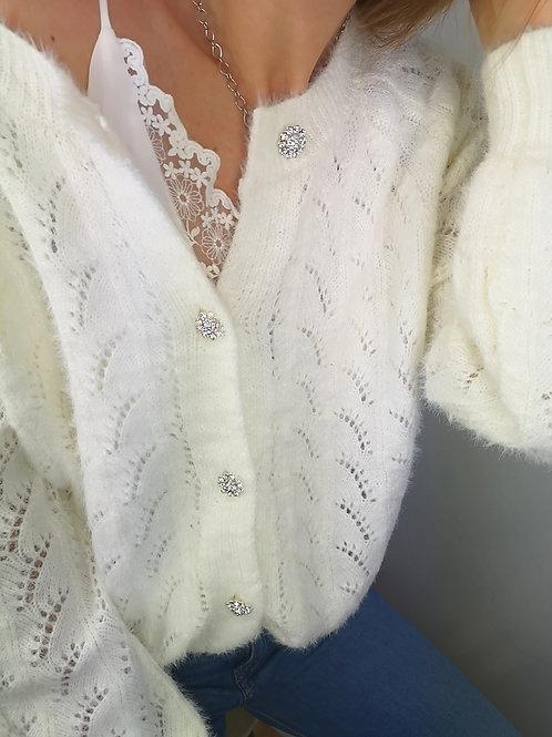 Gilet Anaïs blanc