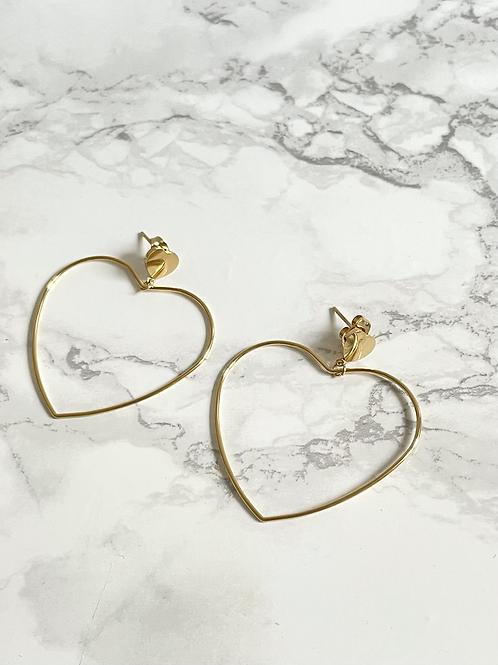 Boucles d'oreilles Amote dorées