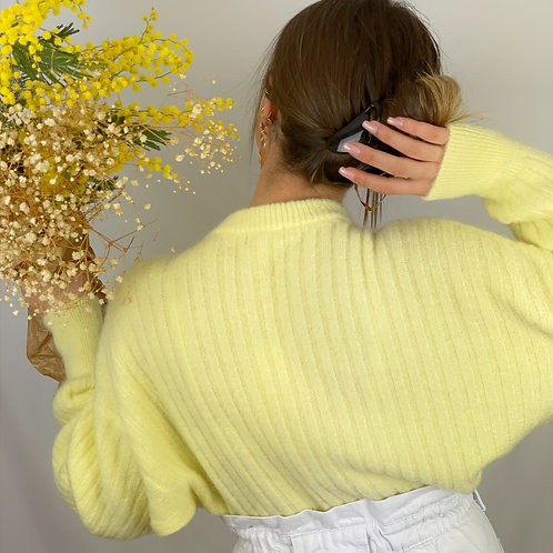 Pull Mohair Dolce jaune