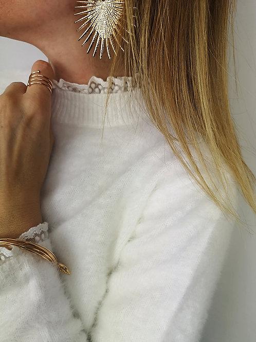 Pull Lino Blanc