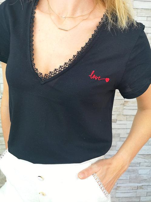 Tee shirt LOVE Noir