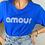 Thumbnail: Tee-shirt Amour bleu