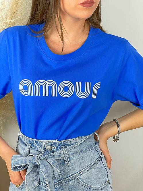 Tee-shirt Amour bleu