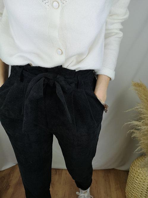 Pantalon velours Antonin noir