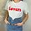 Thumbnail: Tee-shirt Lovers rouge