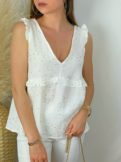 Blouse Madeline blanche