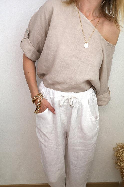 Pantalon Swann Blanc en Lin