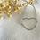 Thumbnail: Bracelet petit coeur argenté