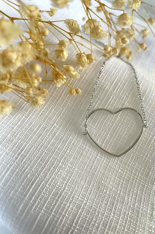 Bracelet petit coeur argenté