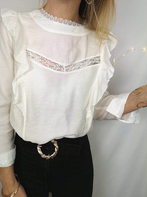 Blouse Isabel blanche