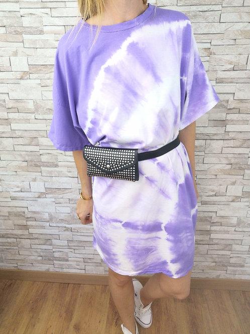 Robe/Tee-Shirt Tie & Dye Lilas