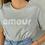 Thumbnail: Tee-shirt Amour gris